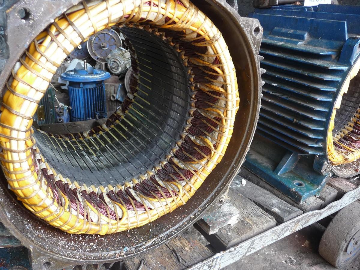 Перемотанный электродвигатель